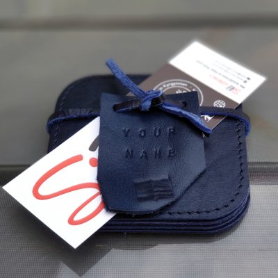 Leather Coasters_Kobalt Blue