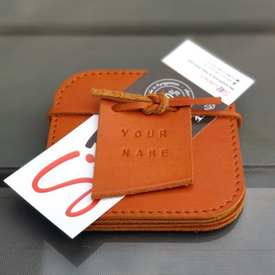 Leather Coasters_Natural Orange