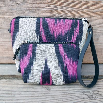 Ikat Make-up & Key Holdera