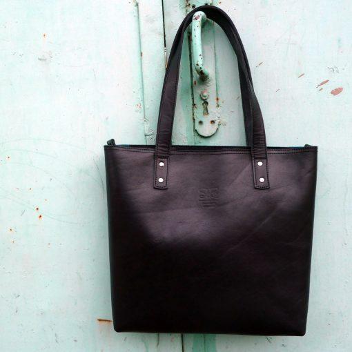 leather handbag-urban-collection-tash-rabat-black