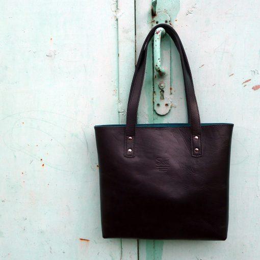 leather tote bag-urban-collection-tash-rabat-black