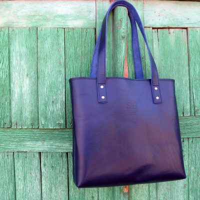 leather tote bag-urban-collection-tash-rabat-kobalt-blue