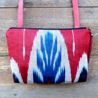 crossbody bag ikat-adras-handmade-leather-kyrgyzstan