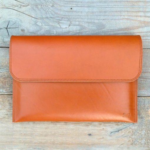 leather sleeve-natural orange