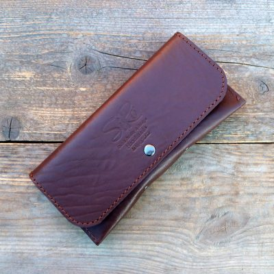leather glasses case-deluxe-chestnut brown