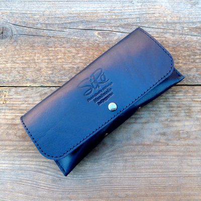 leather glasses case-deluxe-kobalt-blue