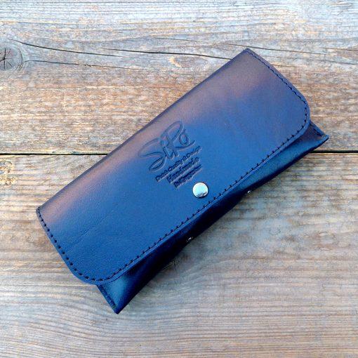 leather glasses case-deluxe-kobalt-blue