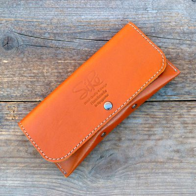 leather glasses case-deluxe-natural orange
