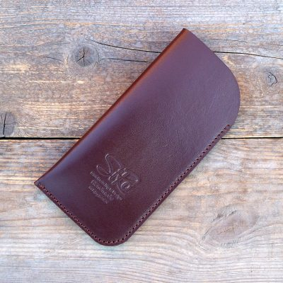 leather glasses case-standard-chestnut brown
