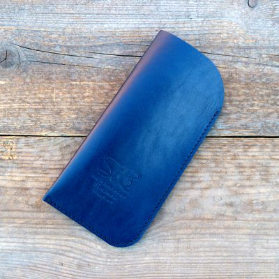 leather glasses case-standard-kobalt blue