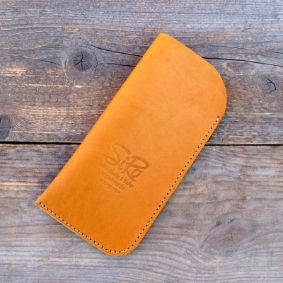 leather glasses case-standard-light-cognac