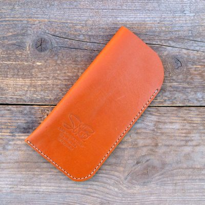 leather glasses case-standard-natural orange