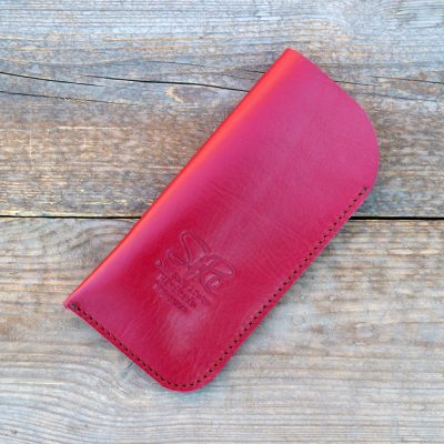 leather glasses case standard-cherry red