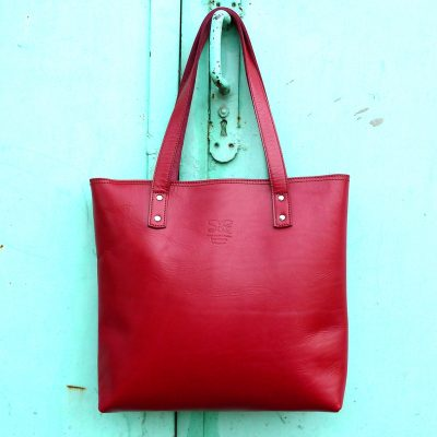 leather handbag-urban-collection-tash-rabat-cherry-red