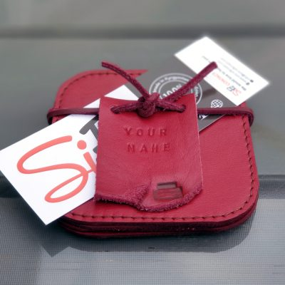 Leather Coasters_Cherry Red