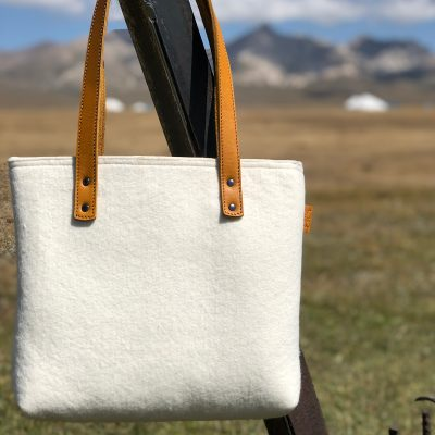 Collection of Felt leather bags & accessories - Hand & Fairmade - by %%sitename%%
