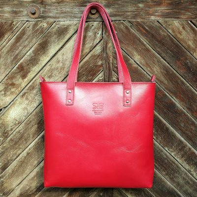 TASH RABAT Handbag CHERRY RED