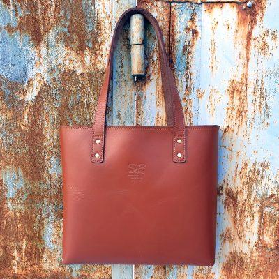 Tash Rabat_Cognac_Leather Tote