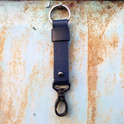 leather keychain_ black