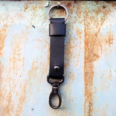 leather keychain_black