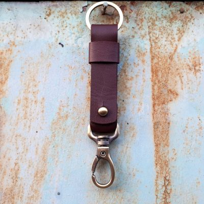 leather keychain_brown