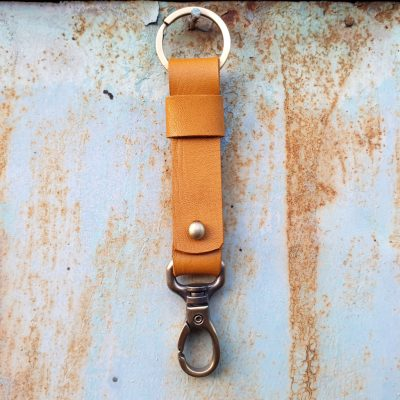 leather keychain_light cognac