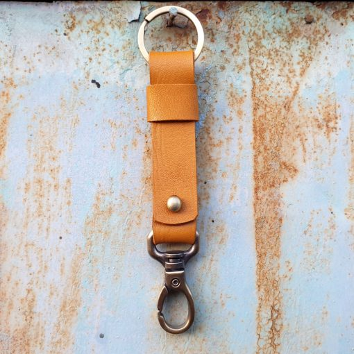 leather keychain_light cognac