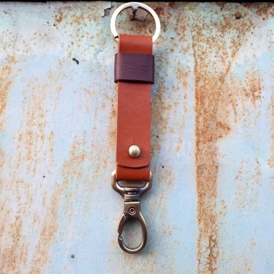 leather keychain_natural orange