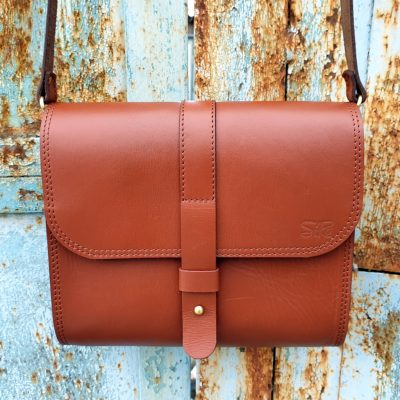 Saddle Bag Burana_cognac_plain