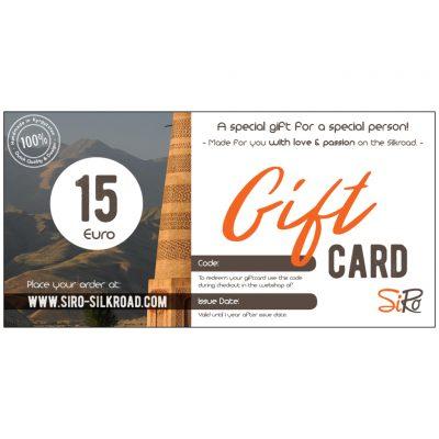 Digital Gift Card SiRo €15