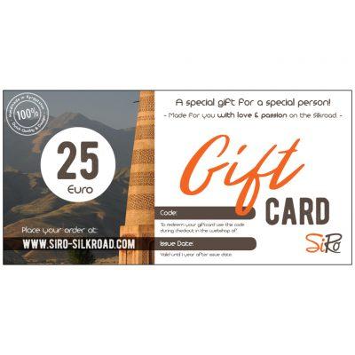 Digital Gift Card SiRo €25
