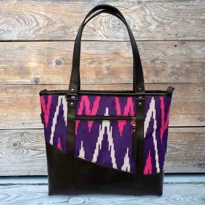 Leather Ikat Handbag - MERV