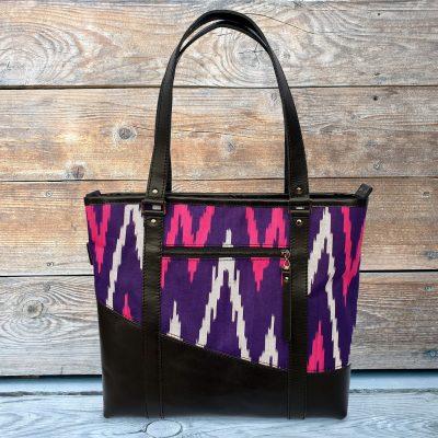 Leather Ikat Handbag - MERV