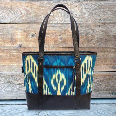 Leather Ikat Handbag - Talgar