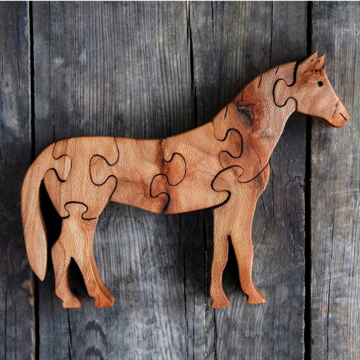 Wooden Horse Puzzle