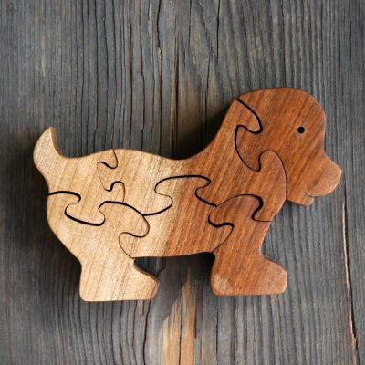 Wooden Puppy Puzzle