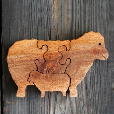 wooden Sheep Puzzle