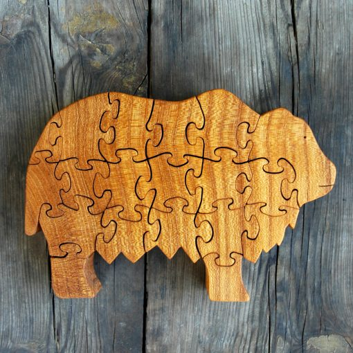 Wooden Yak Puzzle