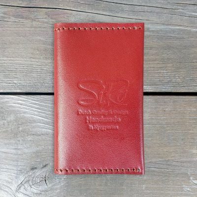 Leather Business Card Holder_Bordeaux