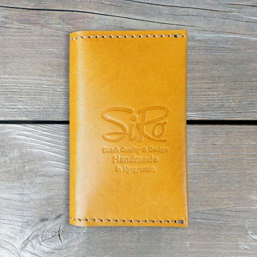Leather Business Card Holder_Light Cognac
