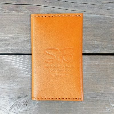 Leather Business Card Holder_Natural Orange
