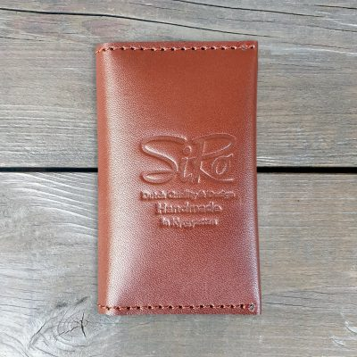 Leather Business Card Holder_brown