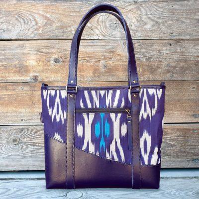 Handbag Leather-Ikat