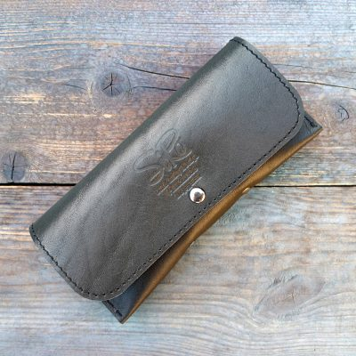 Leather Sunglasses Case Deluxe_black